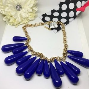 INC International Concepts Jewelry - INC Blue and Gold Pear Bob Necklace [JW-30]